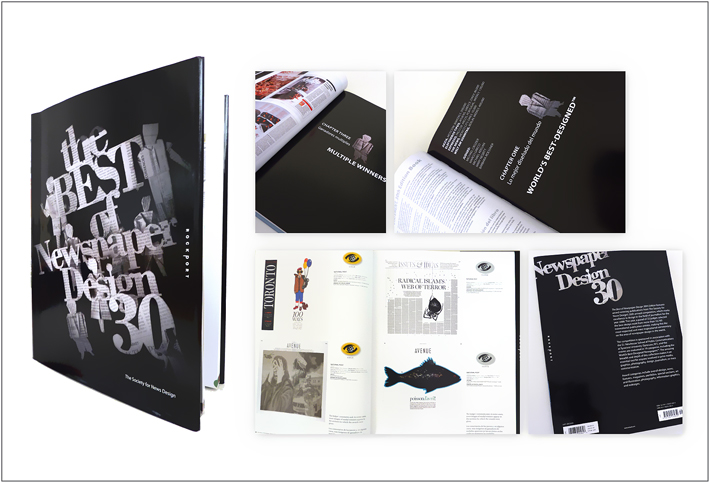 Best Of Newspaper Design 30th Edition Book Cover